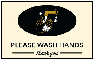 Please Wash Hands - Window Decal