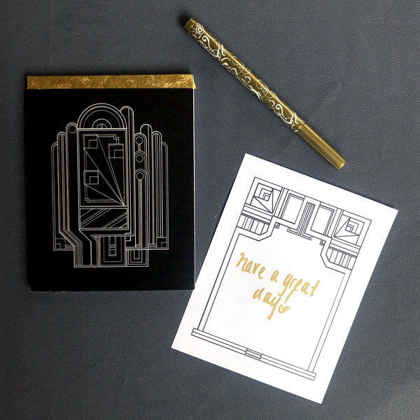 Art Deco Inspired Notepad