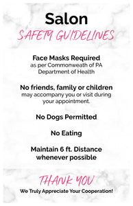 Salon Safety Guidelines - Poster