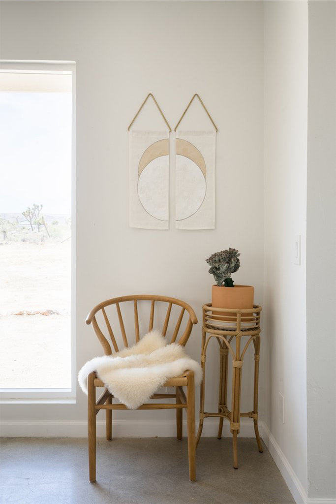 abstract wall art painting in white and cream