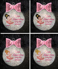 Ballerina Sparkly Personalized Christmas Ornament