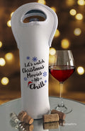 Christmas Movies & Chill Wine Bottle Bag