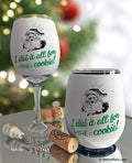 Funny Santa Cookie Insulated Wine Glass Sleeve