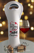 Dreaming of a Wine Christmas Holiday Wine Bag