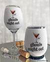 Ghouls Night Out Halloween Wine Glass Sleeve