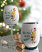 Retro Naughty Christmas Insulated Wine Glass Sleeve
