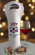 Joy to the Wine Insulated Personalized Wine Bag