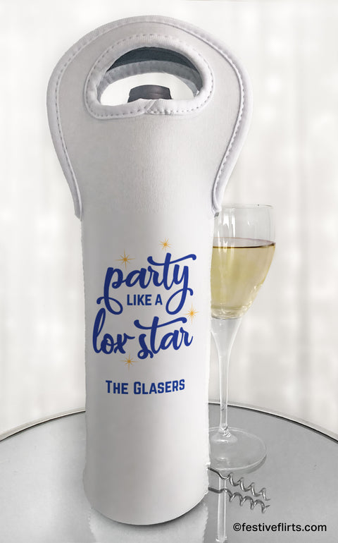 Party Like a Lox Star Personalized Wine Tote