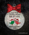 Our First Christmas as Mr. & Mrs. Personalized Ornament