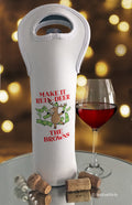 Make it Reindeer Personalized Wine Bottle Bag