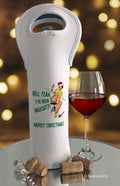 I've Been Naughty Retro Christmas Wine Bottle Bag