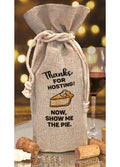 Thanks for Hosting Pie Wine Bag