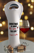 Christmas is About the Wine You Love Bottle Bag