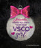 VSCO Girl Christmas Holiday Personalized Ornament
