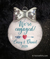We're Engaged Personalized Holiday Ornament