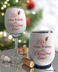 Wine & Dine Christmas Insulated Wine Glass Sleeve
