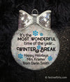 Teacher Winter Break Personalized Ornament