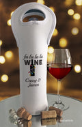 Fa la la la Wine Personalized Christmas Bottle Bag