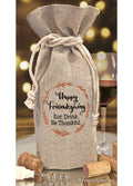 Friendsgiving Wine Bottle Bag Thanksgiving Festive Flirts