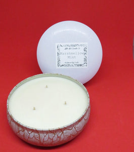 White Large Travel Tin - Little Red Candle Co
