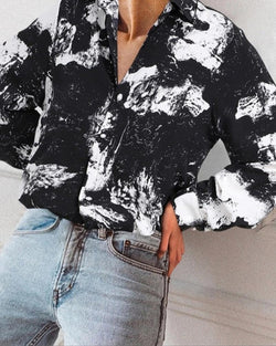 Casual Printing Long Sleeve Shirt