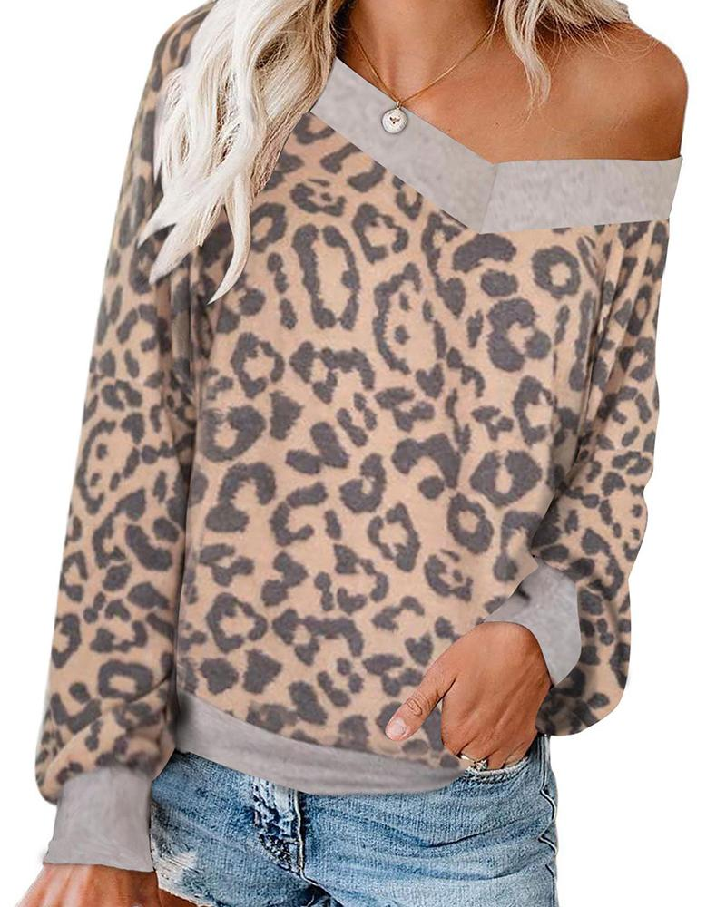 V Neck Cold Shoulder Top