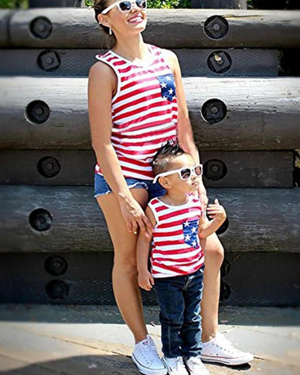 American Flag Tank Top For Mom