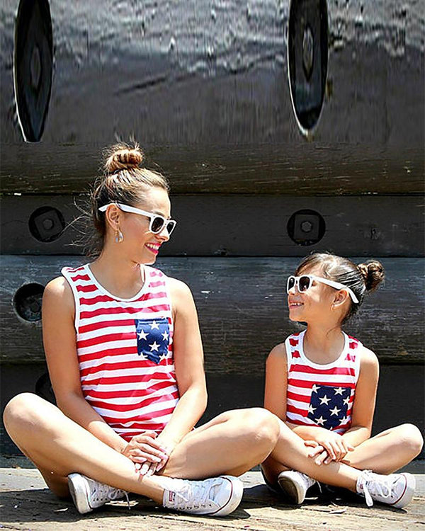 American Flag Tank Top For Kids