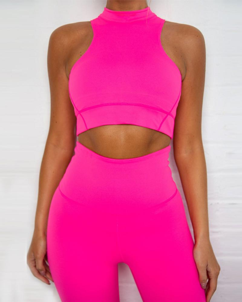 Neon Two-Piece Pant Set