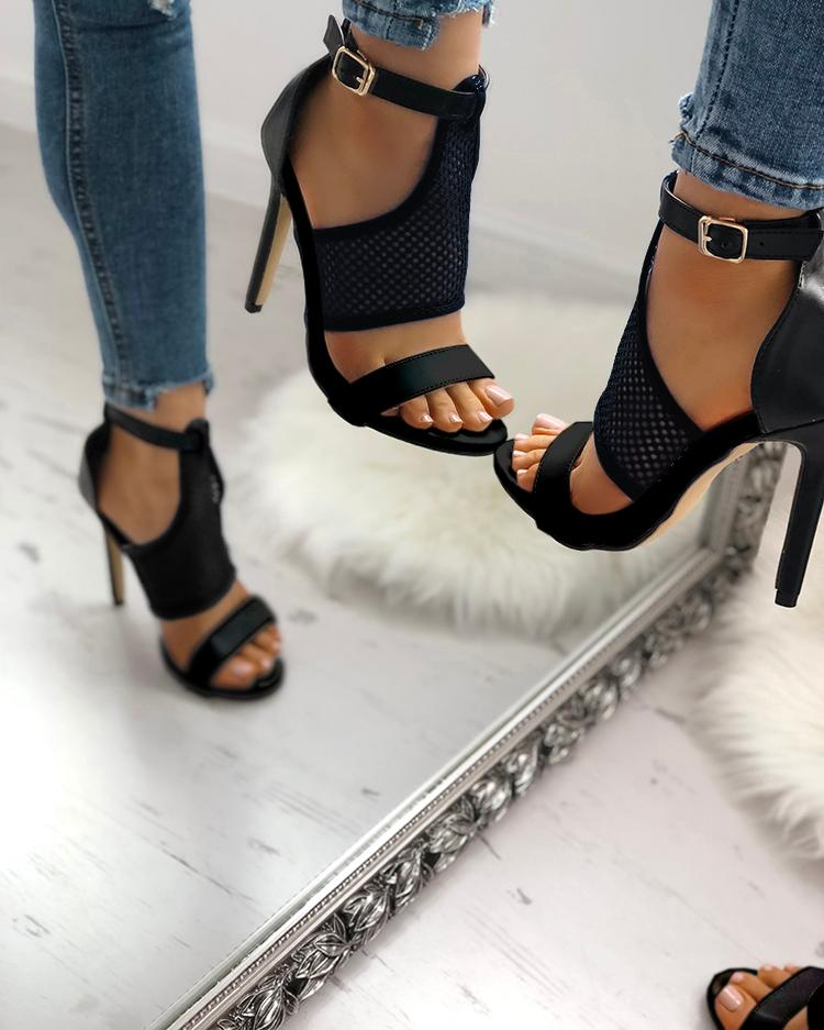 Open Toe Thin Heeled Sandals