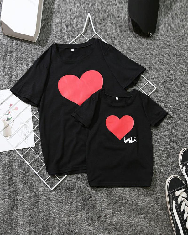 Heart Print T-Shirt For Toddlers