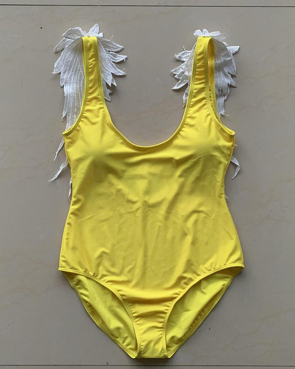 Angel Wings One-Piece Swimsuit For Mom