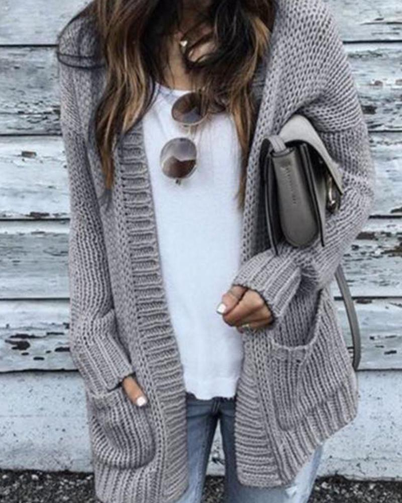 Medium Long Thick Cardigan Sweater