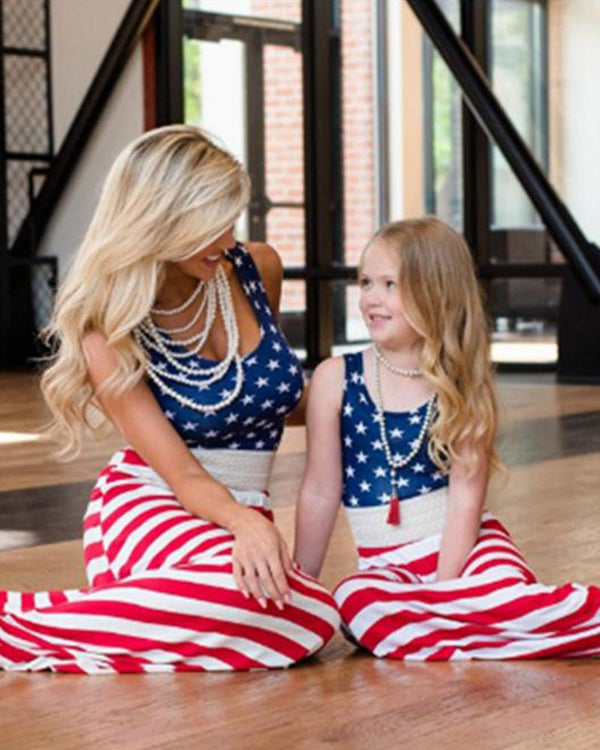 American Flag Maxi Dress For Small Girl
