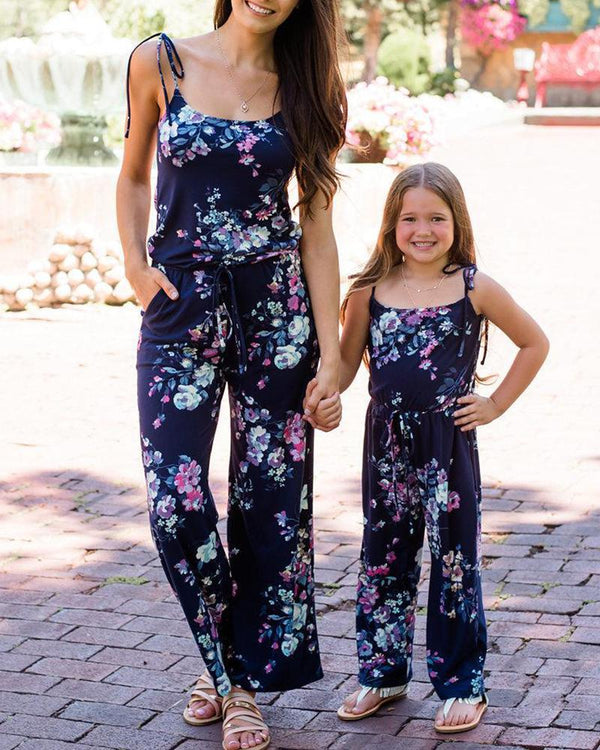 Floral Print Cami Jumpsuit For Mom