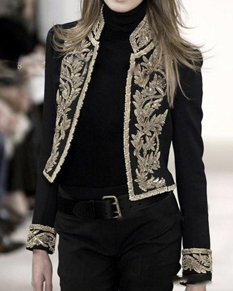 Gold Embroidery Detail Jacket