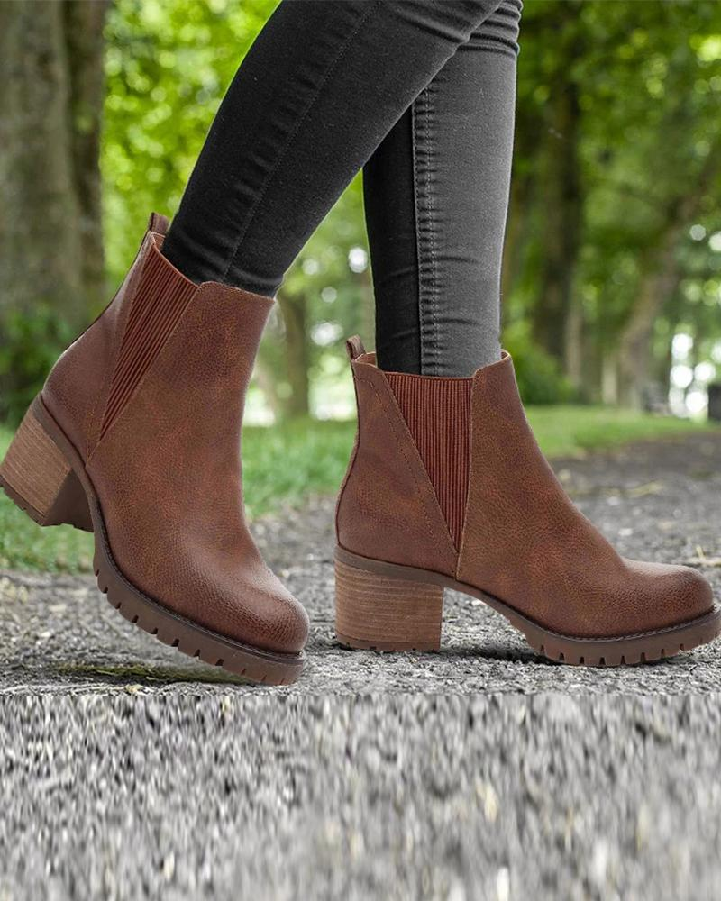 High Heeled Chelsea Ankle Boots