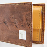 TasteLux Störleder Herrengeldbörse, braun -  brown Sturgeon leather purse