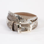 Python Gürtel Hell Mit 24 Karat Goldauflage   Phyton leather belt with 24carat gold hand print