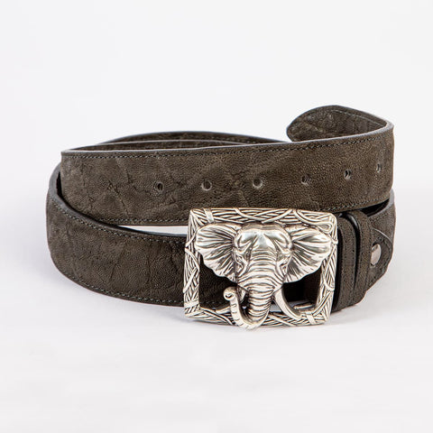 Elefanten Ledergürtel  - elephant leather belt