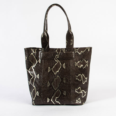 TasteLux Shopper aus Pythonleder - phyton leather shopper with 24 carat gold handprint