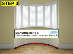 Easy way to size and measure a radiator for a curved bay window