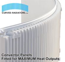 Load image into Gallery viewer, Curved Bay Radiator Convector panels
