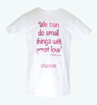 Camiseta Niña: LOVE Madre Teresa - Chamos - In Aid of the Children of Venezuela