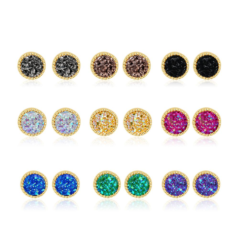 Emiristic Limited 9 Pairs Sparking Glitter Earrings