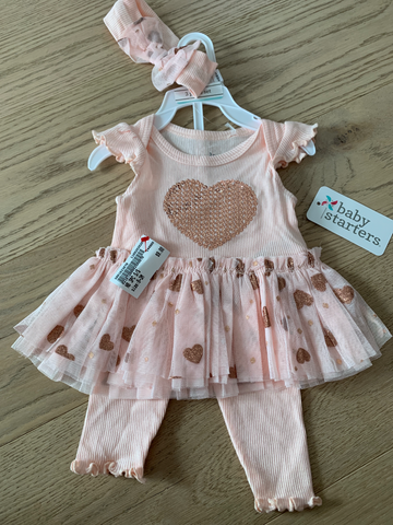 Newborn 3-piece set 0-3 mo