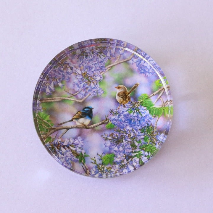 Crystal Glass Disc Paperweight