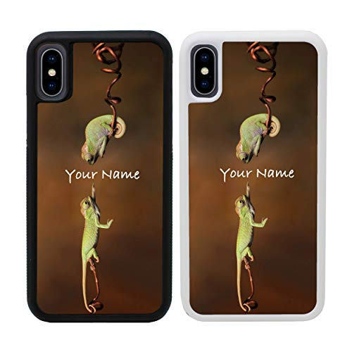 Reptile Personalised Phone Case for Apple iPhone Xs MAX Custom Cover Personal Your Name Bumper 6.5
