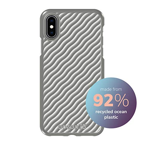 Ocean75 Eco-Friendly Designed for iPhone X, iPhone Xs Case, Ocean-Inspired Sustainable Phone Cover Made from Recycled Fishing Nets – Dolphin Grey