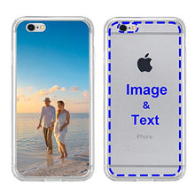Load image into Gallery viewer, MXCUSTOM Custom Apple iPhone X iPhone Xs iPhone 10 Case, Customized Personalized with Photo Image Text Picture Design Make Your Own Phone Cases Covers [Clear Soft TPU Bumper+Hard PC Back] (CHT-CR-P1)